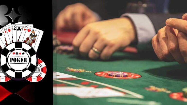 Poker live game and poker chips